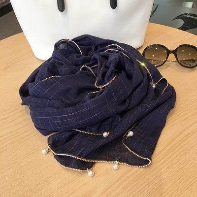 新款時尚棉質柔軟絲巾圍巾 文藝空調披肩 披肩圍巾89