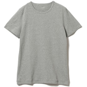 three dots / ショートスリーブ クルーネックカットソー メンズ Tシャツ GRANITE M