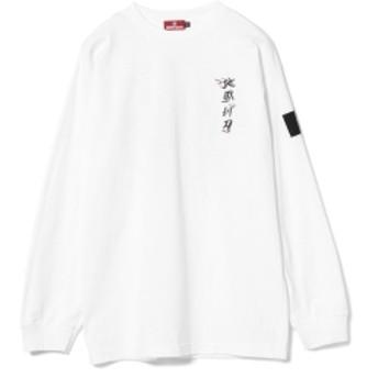 HELLRAZOR / 地獄剃刀Ⅱ Long Sleeve Tee メンズ Tシャツ WHITE L