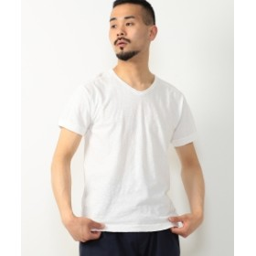 BEAMS PLUS / V-NECK TEE メンズ Tシャツ OFF WHT XL