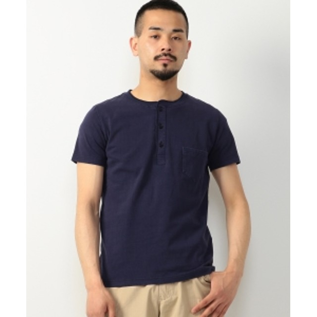 REMI RELIEF × BEAMS PLUS / 別注 ヘンリーネックTシャツ メンズ