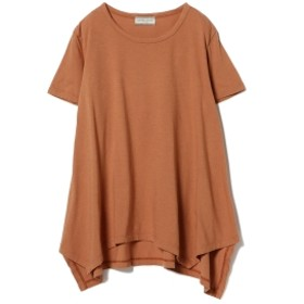 Ray BEAMS High Basic / ドレープ ヘム Tシャツ レディース Tシャツ APRICOT BROWN ONE SIZE