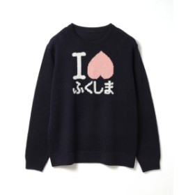 RENOWN × BEAMS JAPAN / I LOVEふくしま セーター レディース ニット・セーター NAVY M