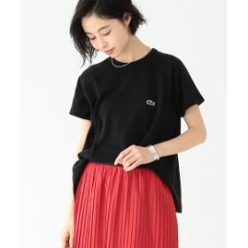 LACOSTE / 別注 Aライン クルーネック Tシャツ レディース Tシャツ BLACK ONE SIZE