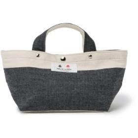 衣 伊勢木綿 × BEAMS JAPAN / 伊勢木綿 20番手糸 トートバッグ SS ▲ レディース トートバッグ 藍縞 ONE SIZE