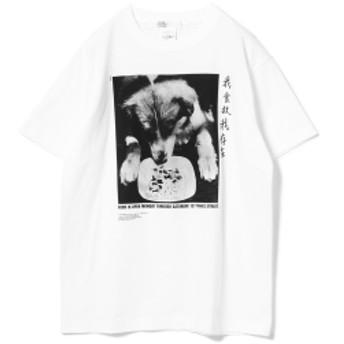 ゴードン・マッタ=クラーク展 x ビームス / Dog Tシャツ▲ メンズ Tシャツ WHITE L