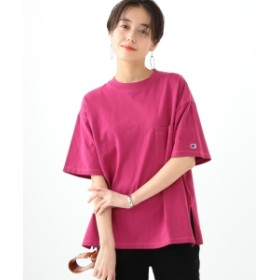 Champion × Ray BEAMS / 別注 ビッグ ポケット Tシャツ レディース Tシャツ RED PPL ONE SIZE