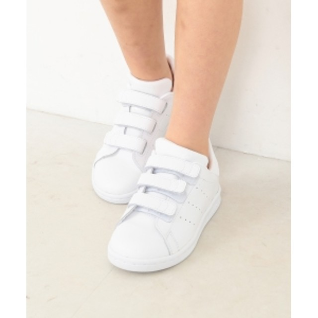 adidas / スタンスミスCFC WB (17~21.5cm) キッズ スニーカー ランニングホワイト/ランニングホワイト 18