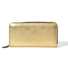 J & M DAVIDSON / メタリックウォレット● レディース 財布 GOLD ONE SIZE