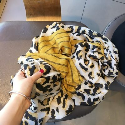 新款時尚棉質柔軟絲巾圍巾 文藝空調披肩 披肩圍巾88