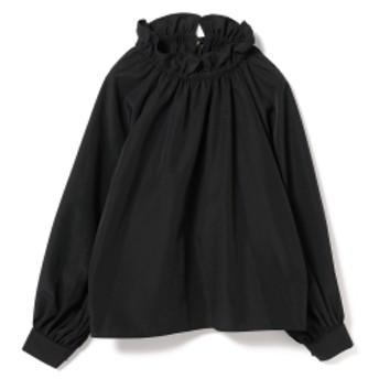 Ray BEAMS / ギャザー ネック バルーンスリーブ レディース カジュアルシャツ BLACK ONE SIZE