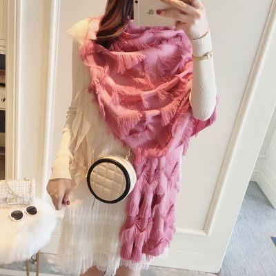 新款時尚棉質柔軟絲巾圍巾 文藝空調披肩 披肩圍巾83