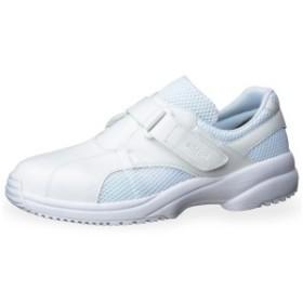 ミドリ安全 ナースシューズ 男女兼用 ケアセフティ CSS-01N ホワイト 白 耐滑 抗菌加工 医療 衛生 靴 蒸れない