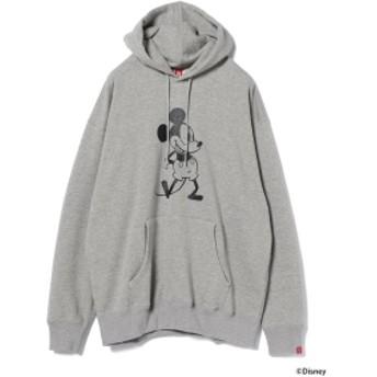 LOOPWHEELER × BEAMS JAPAN / 別注 吊り裏毛 プルオーバー パーカ メンズ パーカー GREY L