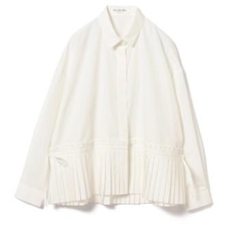 Ray BEAMS / プリーツ キリカエ シャツ レディース カジュアルシャツ WHITE ONE SIZE