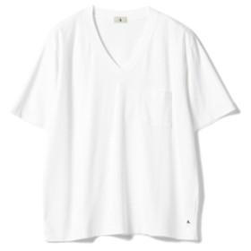 A. / Vネック ポケットTシャツ メンズ Tシャツ WHITE S