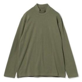 <MEN>ANATOMICA / モックネック ロングスリーブ Tシャツ メンズ Tシャツ OLIVE L