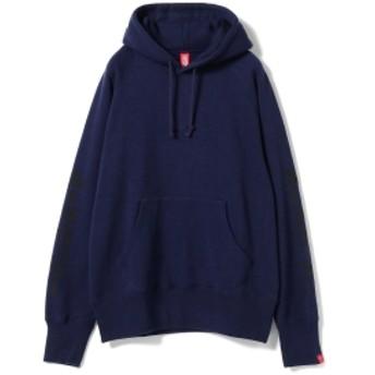 LOOPWHEELER × BEAMS JAPAN / 別注 吊り裏毛 パーカ カタカナ メンズ パーカー NAVY S