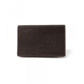 BEAMS F FARO / リザード 名刺入れ メンズ 財布 D.BROWN/020 ONE SIZE