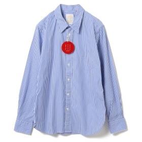 B:MING by BEAMS / BBB レギュラーカラー シャツ レディース カジュアルシャツ BLUE STRIPE M