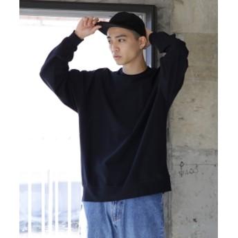 BEAMS / スーパー ストレッチ クルーネック カットソー メンズ Tシャツ BLACK S