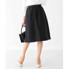 B:MING by BEAMS / シャンタン ギャザースカート 19MO レディース 膝丈スカート BLACK S