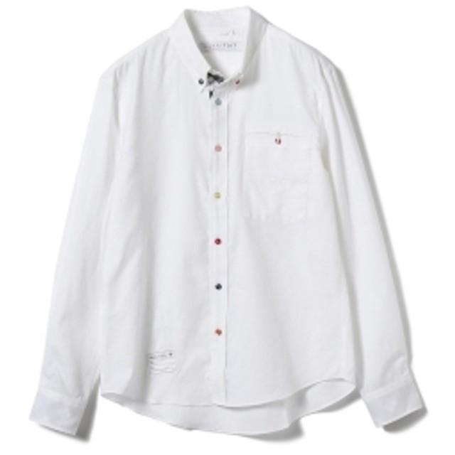 山下マヌー HARRYTOIT BEAMS LIGHTS 別注 マルチカラーボタンダウンシャツ メンズ
