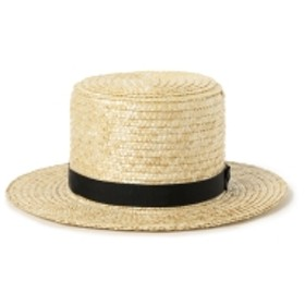 Flying Cloud / Amish Straw Hats レディース ハット BEIGE ONE SIZE