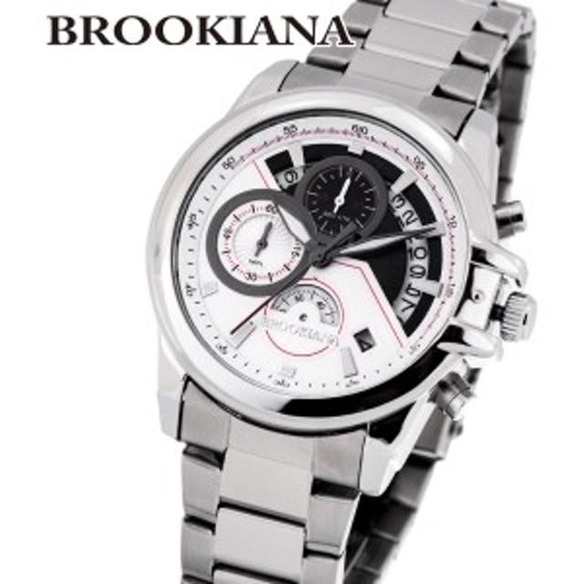 338c7d028c ブルッキアーナ BROOKIANA ba0083-wh メンズ 時計 腕時計 カレンダー クォーツ 防水