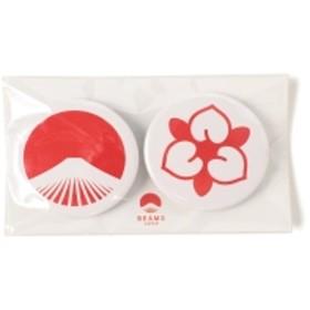 【WEB限定】BEAMS JAPAN / 都道府県の缶バッジ セット メンズ バッジ 岡山県 ONE SIZE