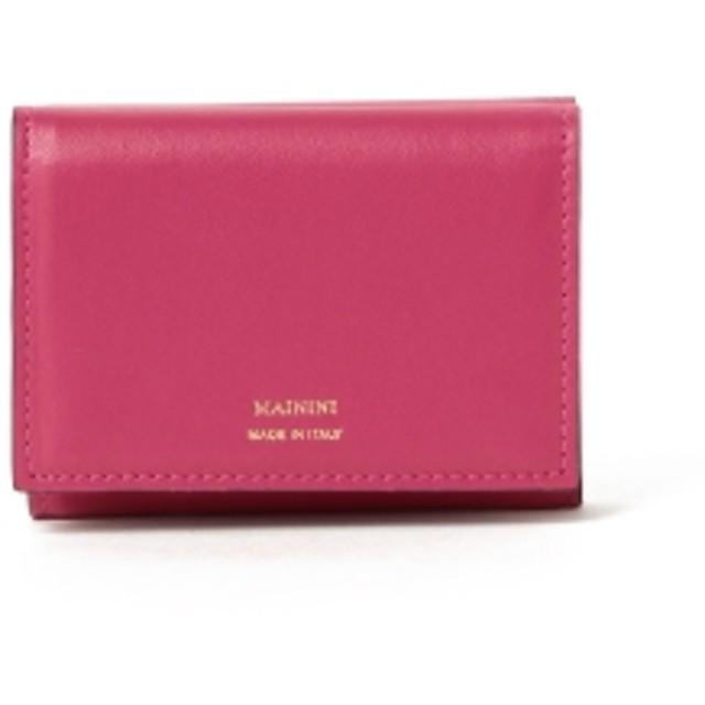 MAININI / 別注 三つ折り ミニ財布 レディース 財布 ROSE/GREIGE ONE SIZE