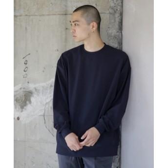 BEAMS / スーパー ストレッチ クルーネック カットソー メンズ Tシャツ NAVY M