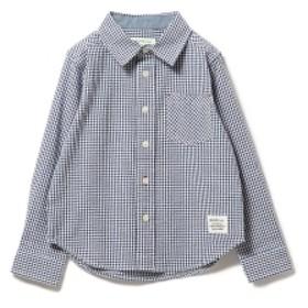 BEAMS mini ギンガムチェックシャンブレーシャツ キッズ