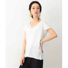 Ray BEAMS High Basic / Vネック ショート スリーブ Tシャツ レディース Tシャツ OFF WHITE ONE SIZE