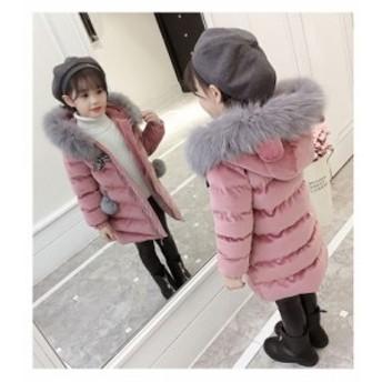 子供服 女の子 ダウンコート 中綿コート フード付き ジャケット キッズコート 冬着 子供コート キッズ服 女の子服 中綿 ロングコート