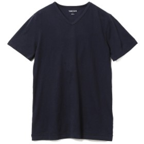 three dots / ショートスリーブ Vネックカットソー メンズ Tシャツ NIGHT IRIS/781 M