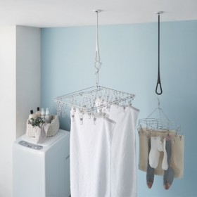nasta/ナスタ 室内物干し 天吊りタイプAir Hoop(1本)ホワイトレッド
