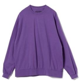 BEAMS T HEAVYWEIGHT COLLECTIONS / Solid Rib Long Sleeve Tee メンズ Tシャツ PURPLE M