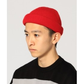 BEAMS BEAMS / ロールアップ ワッチキャップ メンズ ニットキャップ RED ONE SIZE