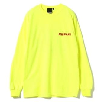 MIN-NANO / UPPER LAKE Long Sleeve Tee メンズ Tシャツ YELLOW L