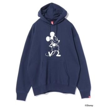 LOOPWHEELER × BEAMS JAPAN / 別注 吊り裏毛 プルオーバー パーカ メンズ パーカー NAVY XL