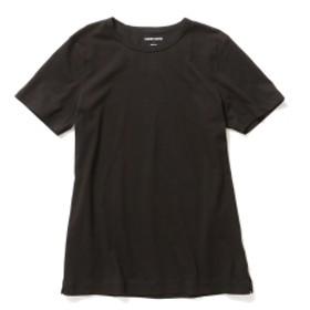 three dots / ショートスリーブ クルーネックカットソー メンズ Tシャツ BLACK S