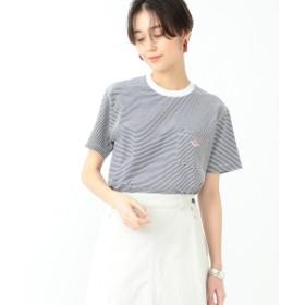 【WEB限定】DANTON / ポケット Tシャツ レディース Tシャツ 128/WHITENAVY 36