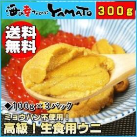 天然生ウニ100g×3パック ミョウバン不使用完全無添加 うに 雲丹 海鮮丼 寿司