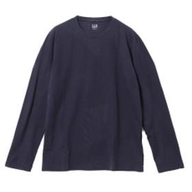 BEAMS F three dots / ロングスリーブ クルーネックTシャツ メンズ Tシャツ NIGHT IRIS/781 M