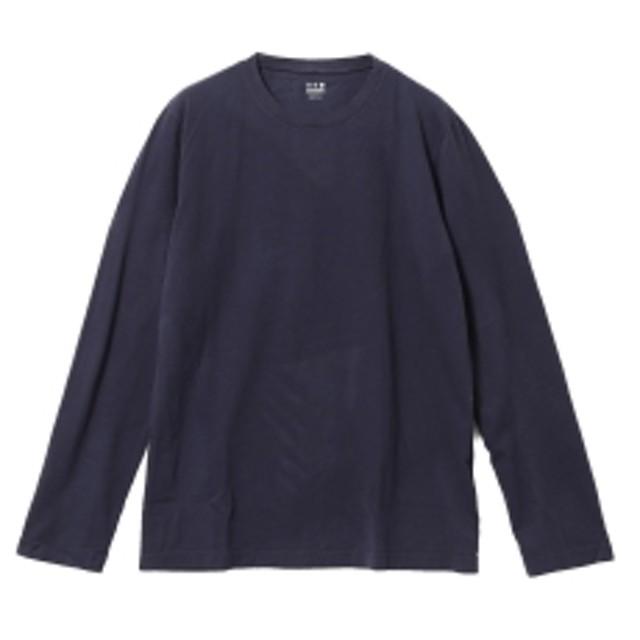 three dots / ロングスリーブ クルーネックカットソー メンズ Tシャツ NIGHT IRIS/781 M