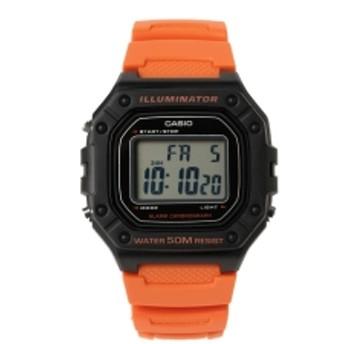 CASIO / W218H4B2V メンズ 腕時計 ORANGE ONE SIZE