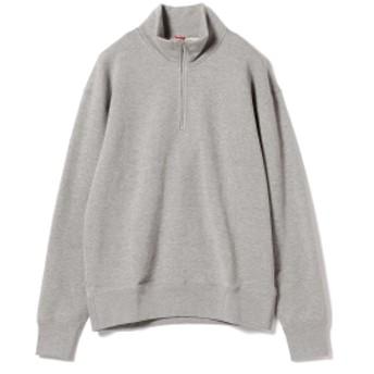 LOOPWHEELER × BEAMS JAPAN / 別注 吊り裏毛 ハーフジップ スウェットシャツ メンズ スウェット GREY L