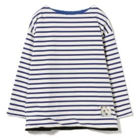 the grolar bilt / リバーシブル ボートネック カットソー メンズ Tシャツ WHTBLU/BLU XL