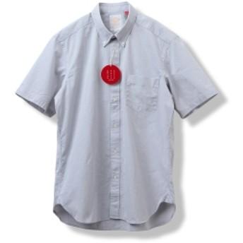 B:MING by BEAMS / BBB ショートスリーブ ボタンダウン シャツ メンズ カジュアルシャツ GREY OX S
